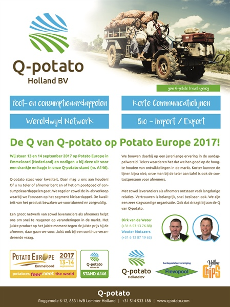 Do we see you at Potato Europe stand A146?